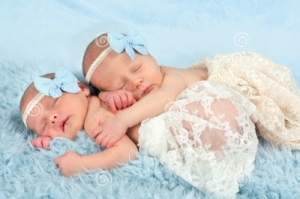 Surrogate Twin Girls